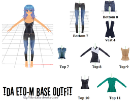 Top Bottom Outfit Set 4 by ela-stellar