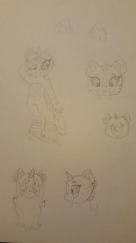Potential Theodosia redesign sketches by KateTheRaccoon