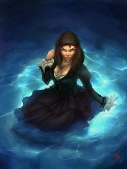 Lady in the water by KeimoJ