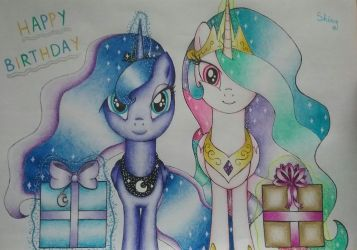 Happy birthday from the Royal Sisters by ShinyPteranodon