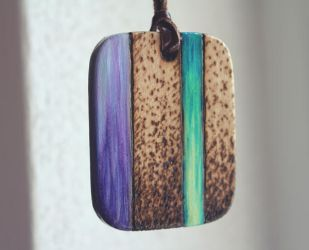The sound of water - Wooden amulet by Aijoku