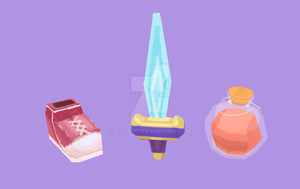 Random Low Poly Items by riyoko07