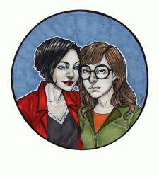 jane + daria by artgyrl