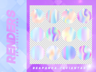Renders 150 // Holographic Circles Pngs by BEAPANDA
