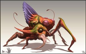 Asymmetrical Insect by Davesrightmind