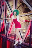 Macross Frontier . Ranka Lee Christmas I by kazenary