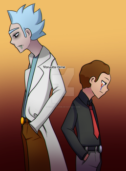 Rick and evil Morty by YORUUTA-HIME