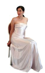 ivory gown cut-out by LongStock