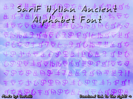 SariF Hylian Ancient Alphabet Font by Sarinilli