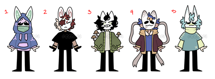 (CLOSED) masked kids 24 by ReeAdopts