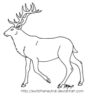 Free use elk template by pinemartenartin