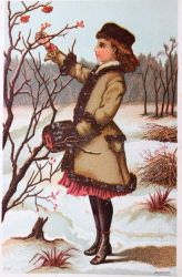 Victorian Advertising - Winter Walk by Yesterdays-Paper