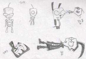 Invader Zim doodles by abnormia