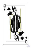 Queen of Spades Cards by smallvillereject