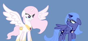 Celestia and Luna AU by Ecoster1268