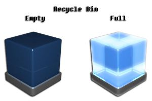 Recycle Bin Dock Icon by endsdawn