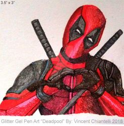 Mini Sketch Deadpool Drawing by RaptorArts