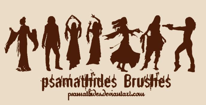 sillhouette brushes by psamathides