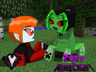 Zoey in Minecraft - Creeper by PlayboyVampire