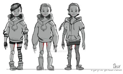 Character-design for comics by zerocelb