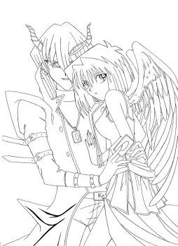 A Demon And His Angel by Cleopatrawolf