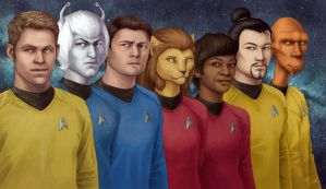 Star Trek: Saratoga Crew by SeekHim