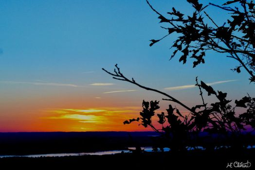 Colorful sunset by Spid4
