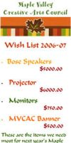 MVCAC Wish List 2006 by infin8yquest