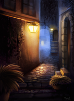 DAY 55. Village Alleyway (45 Minutes) by Cryptid-Creations