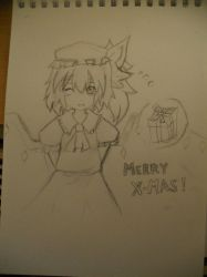 Flandre Scarlet - Christmas Present! by RavenTheSilence