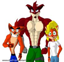 Bandicoot family by DSA09