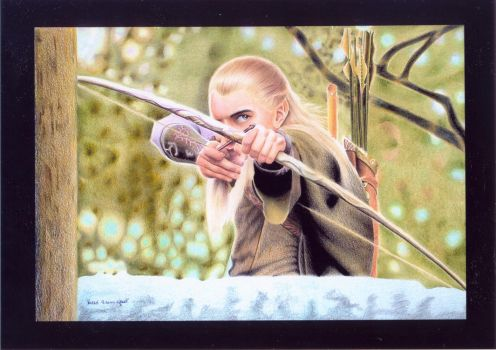 Legolas - Lord of The Rings by coloredpencilfans