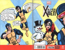 All-New X-Men: My sketch variant by brodiehbrockie