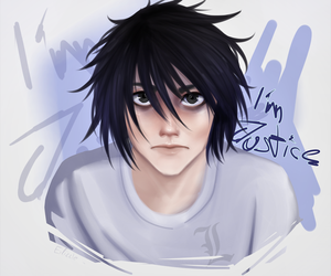 L Lawliet - Im Justice - Death Note by Eilizzle