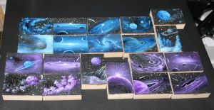 Mini Art-o-Mat Spacescapes 311-330 by crazycolleeny