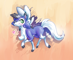.: Shiny Lycanroc :. by avui