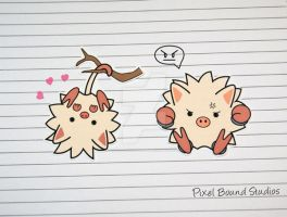 Chibi Mankey/Primate Stickers