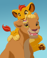 Kiara and Kion by methuselah-alchemist