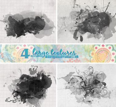 4 Watercolor textures - 1711 by Missesglass