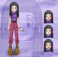 Commission: Mimi Setsuo in Digimon Style by Deko-kun