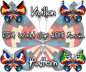 Vivillon pattern - FIFA World Cup 2018 - Russia by Starfighter-Suicune