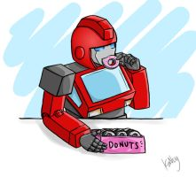 Ironhide likes metal donuts by Armadria