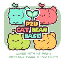 Cat Bean Base - ( 100 points! ) by blushbun