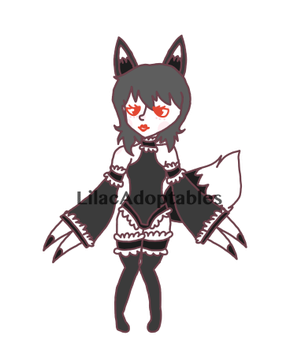 [CLOSED] Frilly Fox Demon by LilacAdoptables