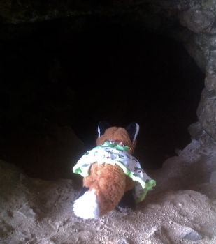 Lisa in a Tunnel - TIberius' Grotto by Vulpes-lagopus21