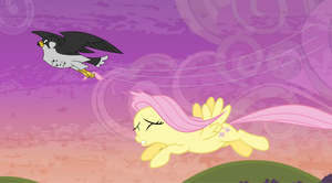 Anton The Evil Falcon Of Coal's Attacks Fluttershy by Zacharygoblin55