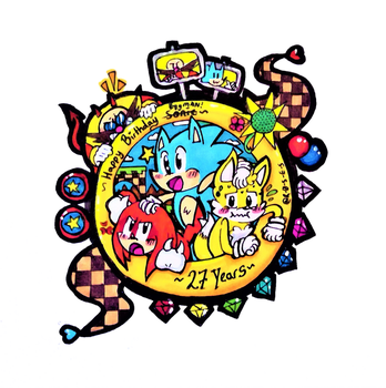 -STH- Sonic's 27th Anniversary by R-0-S-E-S