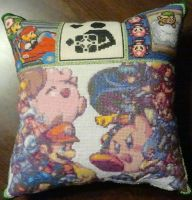 Game Xstitch Pillow by coincollect408
