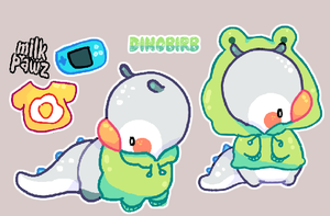 Auction: Dinobirb [Closed] by MilkyPepper