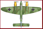 Bf/Ve 1110A Wolf Fighter Top View by Jimbowyrick1